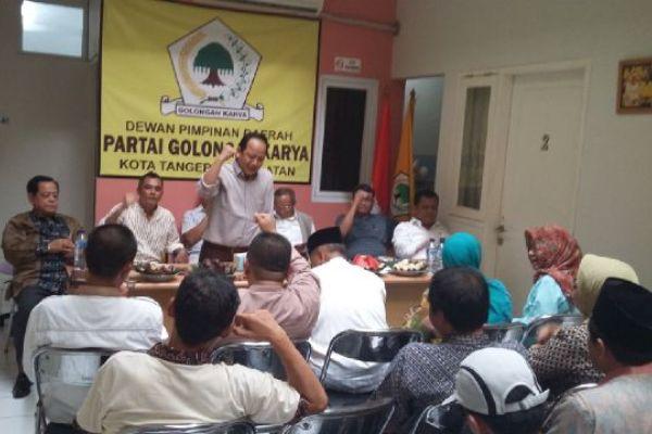 Suasana rapat konsolidasi partai Golkar Kota Tangsel. (jok)