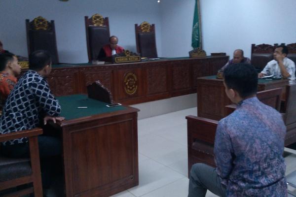 Sidang pra peradilan penyidik BNN di PN Tangerang. (nai)