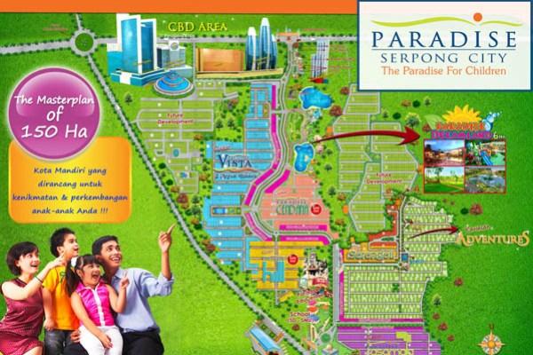 Siteplan Paradise Serpong City. (ist)
