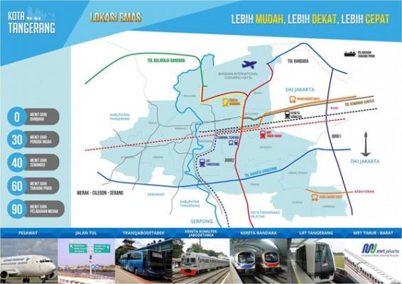 Denah Zona Investasi Kota Tangerang