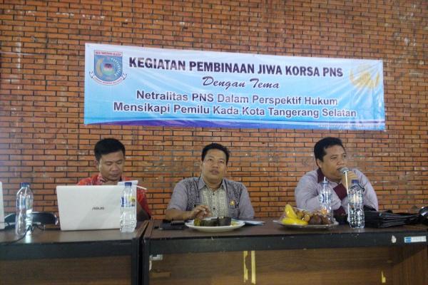 Diskusi soal netralitas PNS dalam Pilkada yang digelar Korpri Tangsel. (jok)