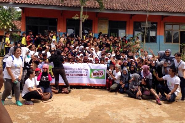 Komunitas 1000 Guru Tangsel kunjungan ke SDN Kebonbera. (ist)