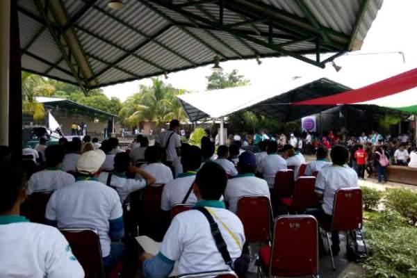 Suasana deklarasi relawan Airin-Benyamin di kediaman Haji Yoyo. (ist)