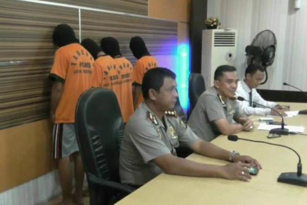 Gelar perkara pelaku pencabulan di Mapolresta Tangerang. (don)