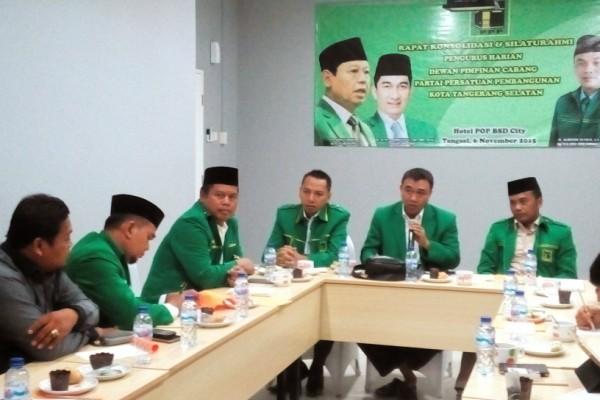 Rapat konsolidasi PPP Kota Tangsel. (jok)