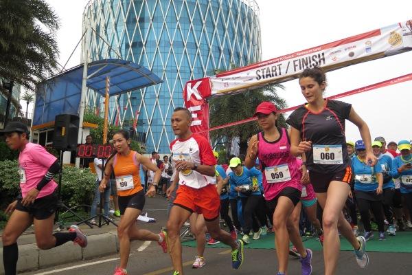 Peserta Run for Thalassaemia. (kie)