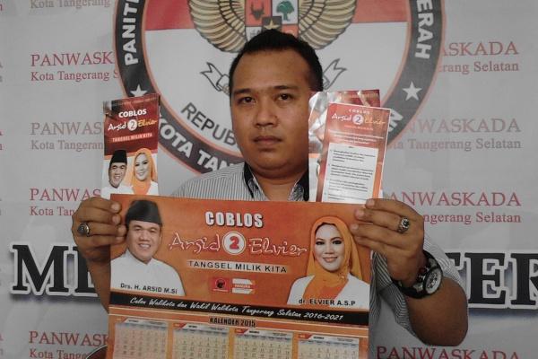 Tim advokasi Airin-Benyamin, Ferry Reinaldy di Panwaskada Tangsel. (one)