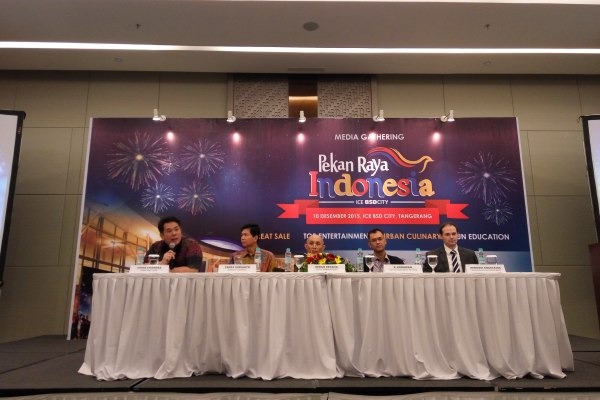Media gathering event Pekan Raya Indonesia di ICE BSD. (man)