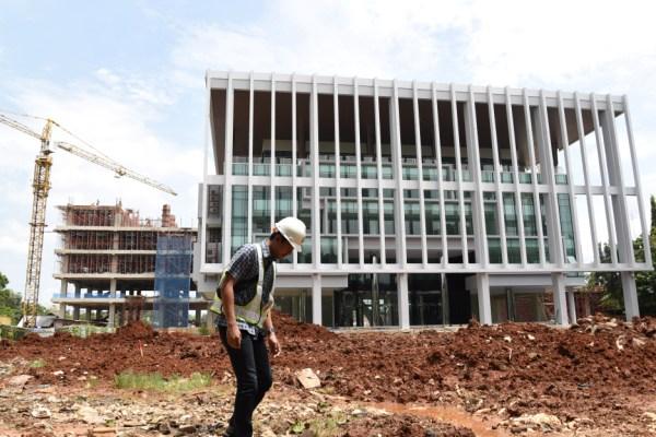 Gedung utama Kantor Pusat Pemerintahan Kota Tangsel (KP2KTS) di Ciputat. (one)