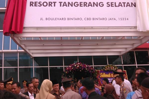 Markas Polres Tangsel sementara di Bintaro, Pondok Aren. (one)