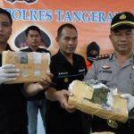Polres Tangsel Amankan 66 Kilo Ganja Asal Aceh
