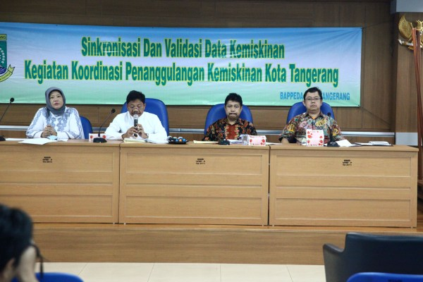 Rapat sinkronisasi data kemiskinan di Kota Tangerang. (ist)