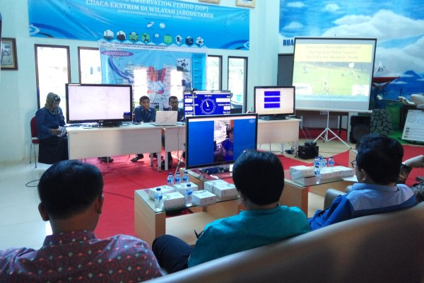Teleconference BPPT dengan BMKG Bogor. (man)