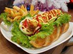 Fried hotdog Popcorn Resto Fame Hotel