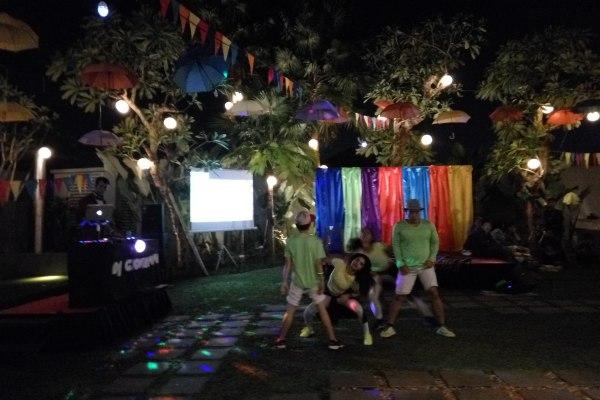 Perayaan malam pergantian tahun di Hotel Soll Marina Serpong. (man)