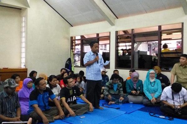 Mantan anggota Gafatar asal Tangsel ditampung di Rumah Singgah Kademangan. (man)