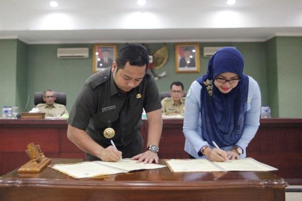 Penandatanganan MoU antara BPJS dengan Pemkot Tangerang. (ist)