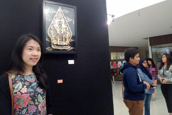 Pameran karya seni di Universitas Multimedia Nusantara (UMN). (bud)