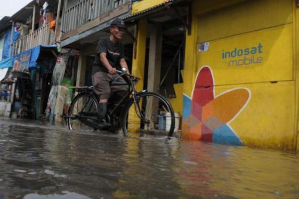 Ilustrasi, banjir di Kota Tangerang. (bbs)