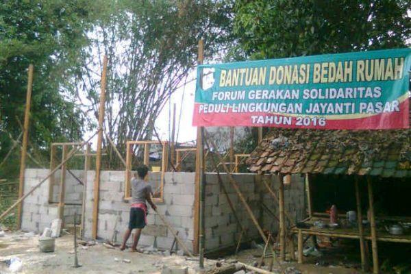 Rumah milik Saban di Jayanti, Kabupaten Tangerang. (hen)