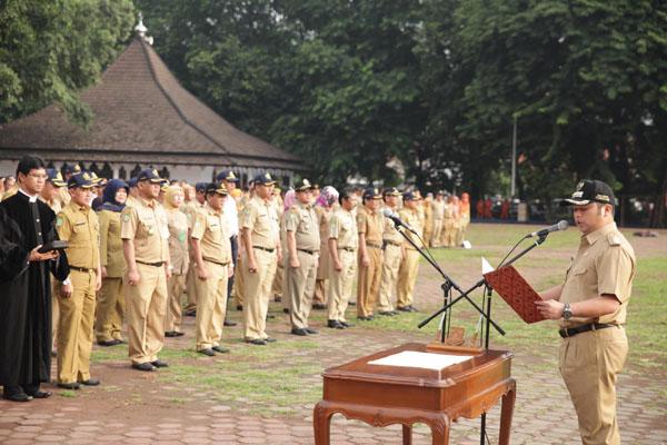 Jelang HUT ke-23, 164 Pegawai Dimutasi