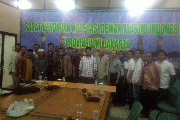 Rapat pendirian Koperasi Dewan Masjid Indonesia. (ist)