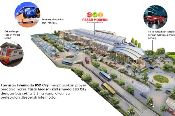 Pasar Modern 2 Terintegrasi Kawasan Intermoda BSD City. (ist)