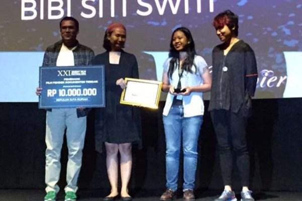 Bibi Siti Switi berhasil memenangkan kategori Film Pendek  Dokumenter Terbaik di XXI Short Film Festival 2016. (ist)