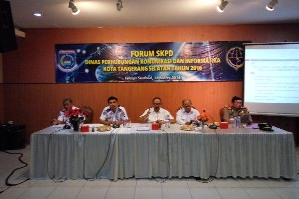 Forum SKPD yang digelar Dishubkominfo Kota Tangsel. (man)
