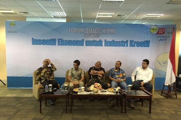 """Forum Dialog HIPMI Sesi ke- 37 bertema, """"Insentif Ekonomi untuk Industri Kecil"""". (ist)"""