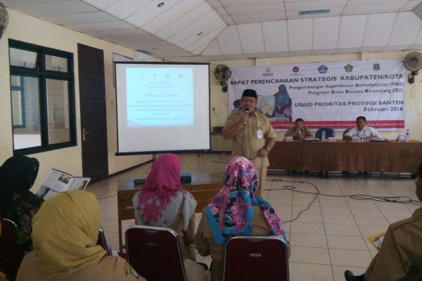 Kepala Dindik Kota Tangerang, Akhmad Lutfi menyatakan pentingnya budaya baca sebagai bekal ilmu pengetahuan. (ist)