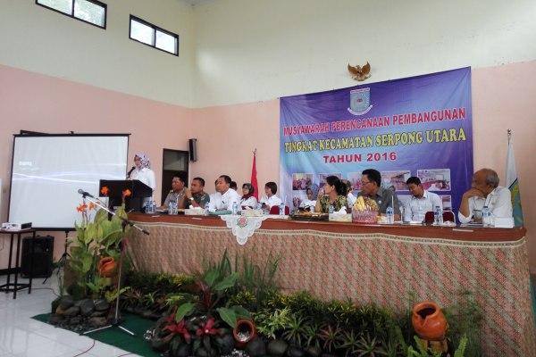 Musrenbang Kecamatan Serpong Utara 2016. (man)