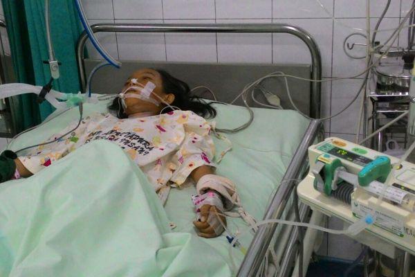 Reva, pasien BPJS yang diduga ditolak di delapan rumah sakit. (eni)
