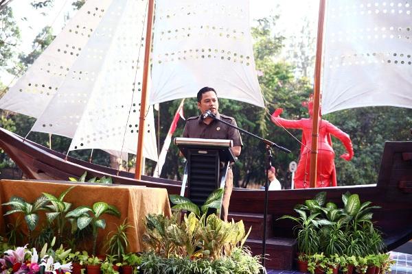 Walikota Tangerang saat meresmikan Taman Potret. (dok)