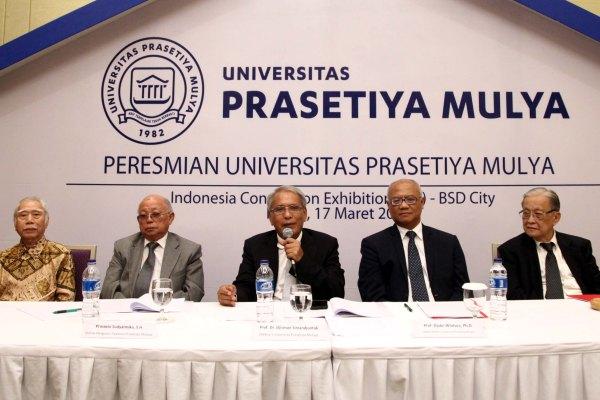 Peresmian Universitas Prasetiya Mulya. (ist)