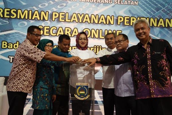 Peluncuran perizinan online BP2T Kota Tangsel. (dok)