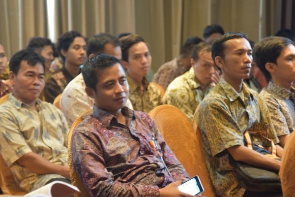 Petugas Sensus Ekonomi 2016 saat mengikuti pelatihan yang digelar BPS Kota Tangsel. (ymw)
