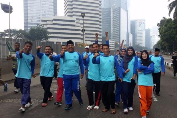Pemuda Masjid Indonesia saat kegiatan Car Free Day di Thamrin. (ist)