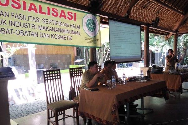 Sosialisasi Produk Halal yang dilakukan Disperindag Kota Tangsel. (man)