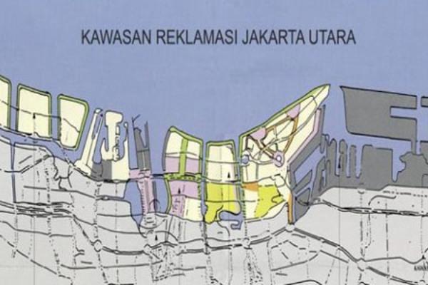 Ilustrasi Reklamasi Pantai Utara Jakarta. (bbs)