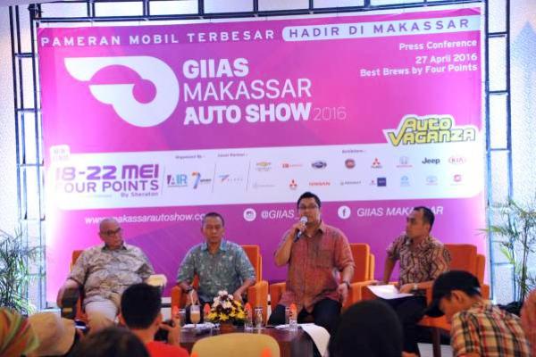 Panitia penyelenggara mengumumkan GIIAS Makassar Auto Show bakal digelar Mei. (ist)