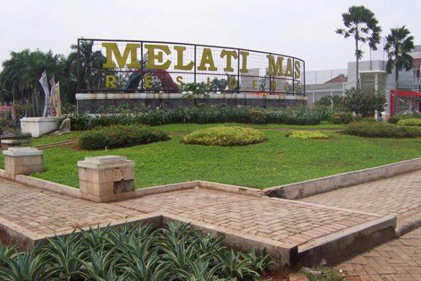 Gerbang masuk Perumahan Villa Melati Mas di Serpong Utara. (ist)