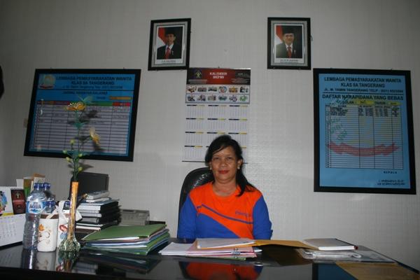 Kepala Lapas Wanita Tangerang, Cipriana Murbihastuti. (eni)