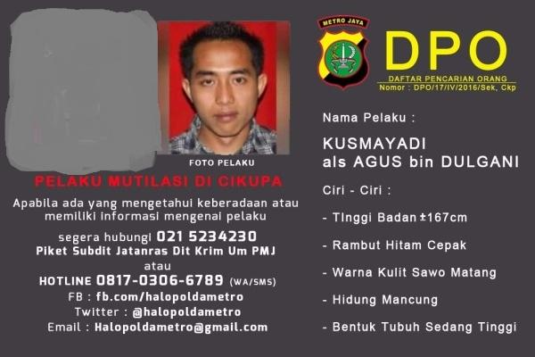 Identitas pelaku mutilasi di Cipupa yang dirilis Polda Metro Jaya. (ist)