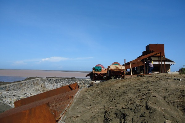Ilustrasi penambangan pasir laut. (bbs)
