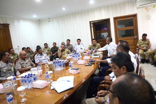 Rapat koordinasi mengatasi kemacetan di area Bandara Soekarno Hatta. (ist)