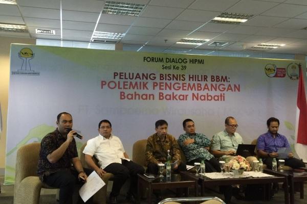 Forum Dialog HIPMI sesi 39 yang membahas soal peluang bisnis hilir BBM. (ist)