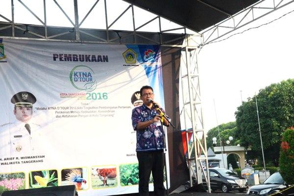 Sekda Kota Tangerang membuka KTNA Tour 2016. (ist)