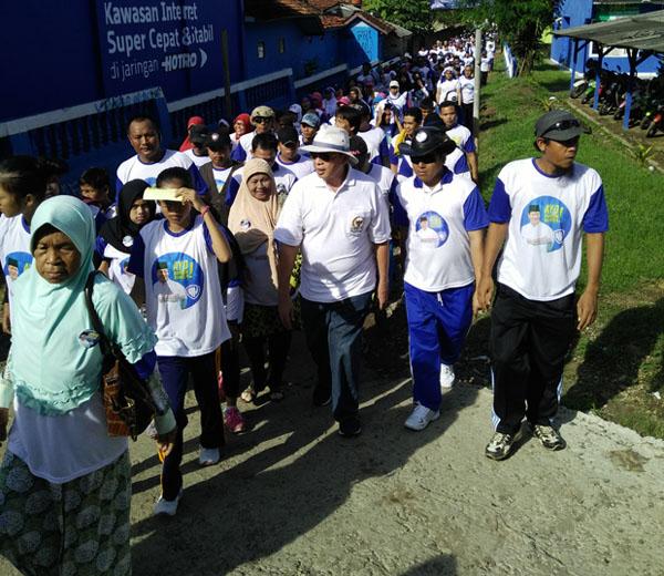 Ribuan Masyarakat Bayah Ikut Jalan Sehat Ala WH