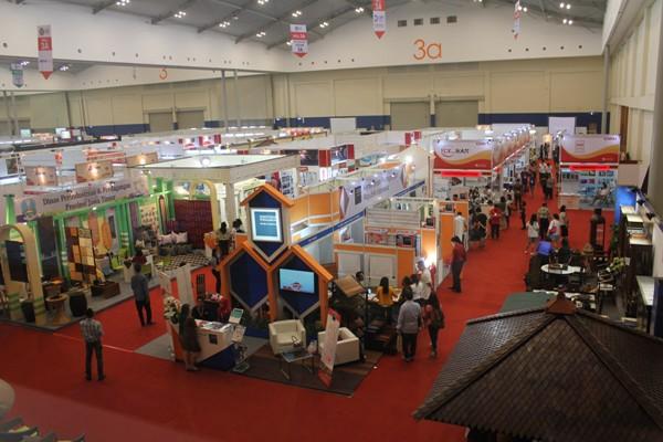 building dan contruction job fair di Indobuildtech ICE BSD. (bung)